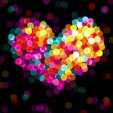 Het hart van Valentin stock illustratie