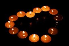 Het hart van Valentin 's dat van kaarsen wordt gemaakt Royalty-vrije Stock Foto