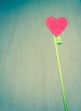 Het hart van Valentine Stock Afbeeldingen