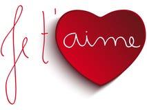 Het Hart van Valentine Day Je taime Royalty-vrije Stock Afbeeldingen