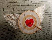 Het Hart van het vleugelsdoel royalty-vrije stock foto's