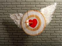 Het Hart van het vleugelsdoel stock afbeelding
