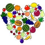 Het hart van vruchten Stock Foto