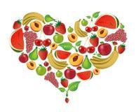 Het hart van vruchten Stock Foto's