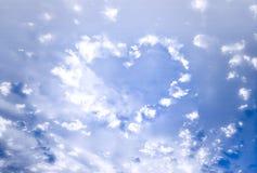 Het hart van wolken Stock Fotografie