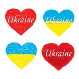 Het hart vectorillustratie van de Oekraïne Royalty-vrije Stock Afbeeldingen