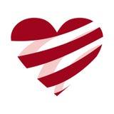 Het hart vectorontwerp van de valentijnskaartendag Stock Afbeelding