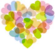 Het hart voor de dag van Valentijnskaarten Stock Fotografie