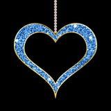 Het hart vormde blauwe tegenhanger vector illustratie