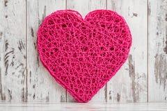 Het hart vormde de Amerikaanse Mat van de Stijl Roze Lijst op Witte Achtergrond Royalty-vrije Stock Afbeeldingen