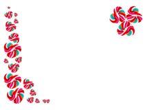Het hart vormde kleurrijke lolly op witte achtergrond Stock Afbeeldingen