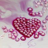 Het hart vormde parels Stock Fotografie