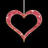 Het hart vormde rode tegenhanger vector illustratie