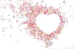 Het hart wordt gemaakt dat van bestrooit Royalty-vrije Stock Foto's