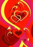 Het hartachtergrond van de liefde Stock Foto