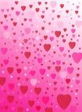 Het hartachtergrond van de liefde Stock Fotografie