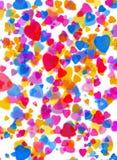 Het hartachtergrond van de liefde Stock Afbeeldingen
