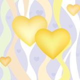 Het hartachtergrond van de liefde. De dagachtergrond van de valentijnskaart Stock Afbeelding