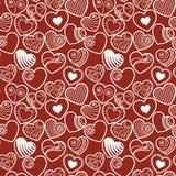 Het hartachtergrond van de pret naadloze liefde Stock Fotografie