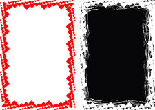 Het hartachtergrond van Grunge en hartframe Royalty-vrije Stock Foto
