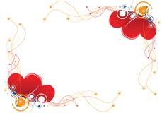 Het hartachtergrond van het ontwerp vector illustratie