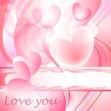 Het hartbellen van de valentijnskaart Stock Fotografie