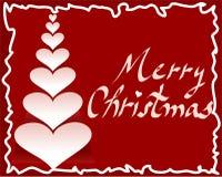 Het hartboom van de kerstkaart   Royalty-vrije Stock Afbeeldingen