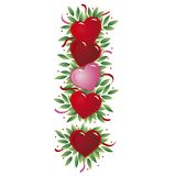 Het hartbrief van de valentijnskaart Royalty-vrije Illustratie
