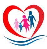 Het hartembleem van de familie vector illustratie