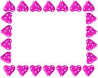 Het hartframe of grens van de valentijnskaart Royalty-vrije Stock Foto
