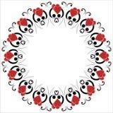Het hartframe van de valentijnskaart. royalty-vrije illustratie