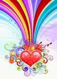 Het hartillustratie van de regenboog Stock Afbeelding