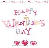 Het hartkaart van de valentijnskaart royalty-vrije illustratie