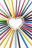 Het hartmacro van het potlood royalty-vrije stock foto