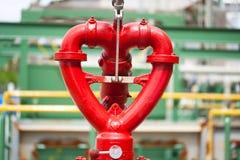 Het hartontwerp van de brandkraan in fabriek Stock Afbeelding