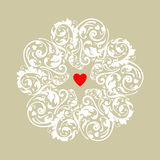 Het hartornament van de cirkel Stock Afbeelding