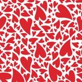 Het hartpatroon van de liefde royalty-vrije illustratie