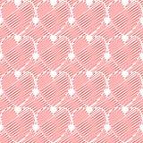 Het hartpatroon van de ontwerp naadloos kleurrijk krabbel. Val stock illustratie