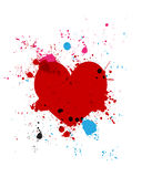 Het hartplons van Grunge Stock Foto