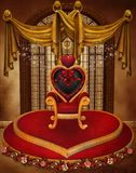 Het harttroon van de valentijnskaart Royalty-vrije Stock Foto's
