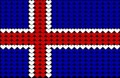 Het hartvlag van IJsland Royalty-vrije Stock Afbeeldingen