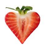 Het hartvorm van de aardbei Stock Afbeelding