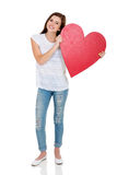 Het hartvorm van het tienermeisje Stock Afbeeldingen
