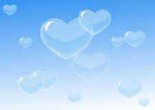 Het hartvormen van bellen Royalty-vrije Stock Foto's