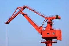 De Kraan van de haven royalty-vrije stock fotografie