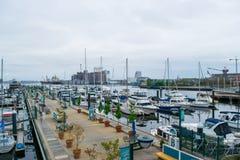 Het havengebied Fells binnen Punt in Baltimore, Maryland stock afbeelding
