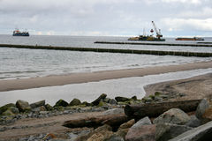 Het havenwerk - bouw van een jachthaven Royalty-vrije Stock Fotografie
