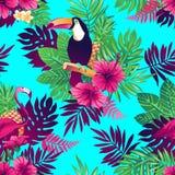 Het Hawaiiaanse Naadloze Patroon van Aloha Royalty-vrije Stock Afbeeldingen