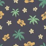 Het Hawaiiaanse Naadloze Patroon van Aloha Stock Afbeeldingen
