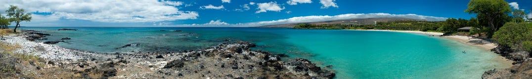 Het Hawaiiaanse panorama van het Strand Stock Fotografie